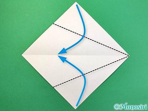 折り紙で白鳥の折り方手順3