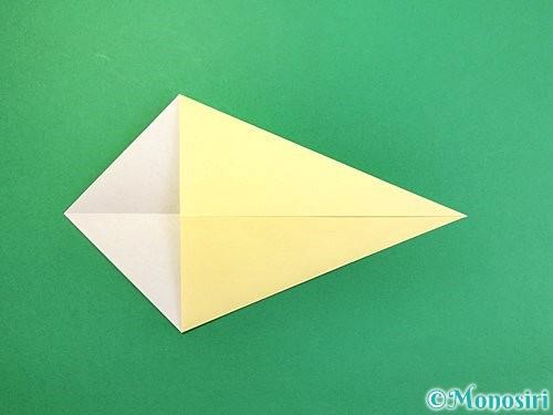 折り紙で白鳥の折り方手順4