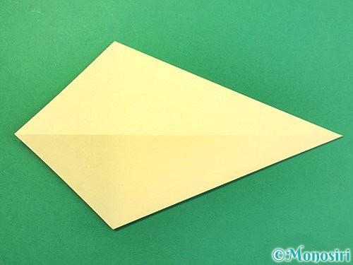 折り紙で白鳥の折り方手順5