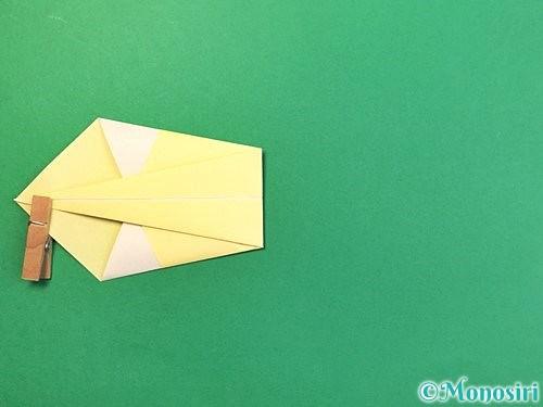 折り紙で白鳥の折り方手順9