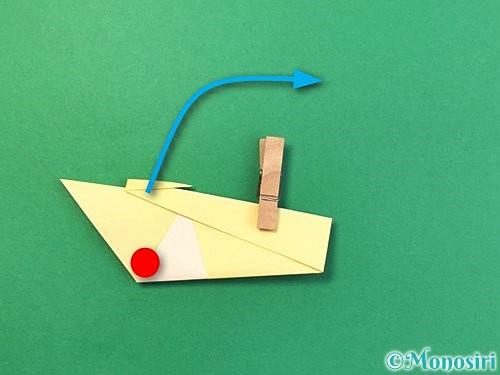折り紙で白鳥の折り方手順14