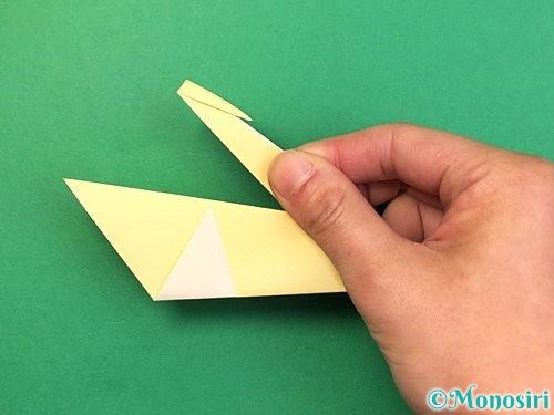 折り紙で白鳥の折り方手順15