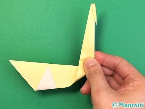 折り紙で白鳥の折り方手順16