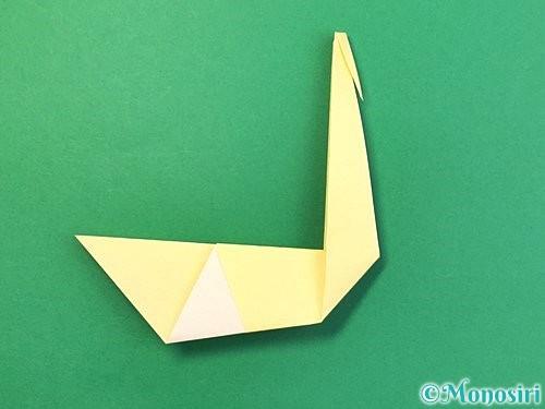 折り紙で白鳥の折り方手順17