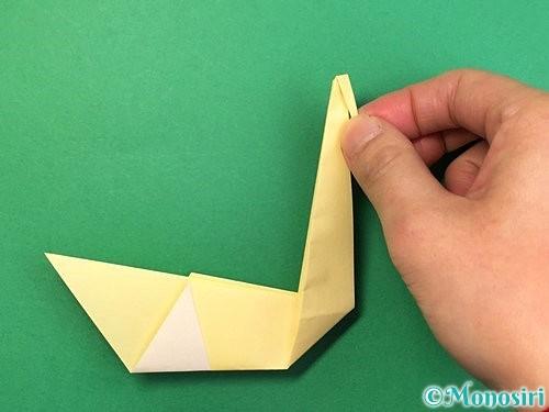 折り紙で白鳥の折り方手順19