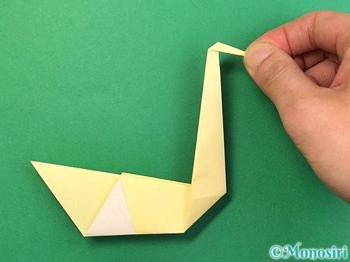 折り紙で白鳥の折り方手順20