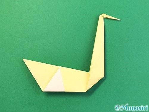 折り紙で白鳥の折り方手順21