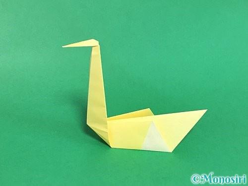 折り紙で白鳥の折り方手順22