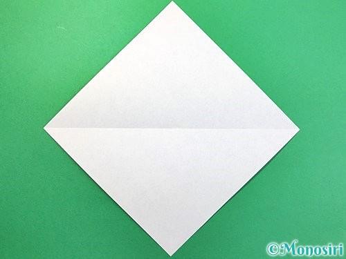 折り紙で鳩の折り方手順2