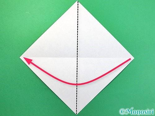 折り紙で鳩の折り方手順3