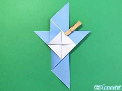 折り紙で鳩の折り方手順12