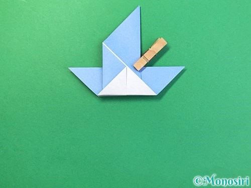 折り紙で鳩の折り方手順13