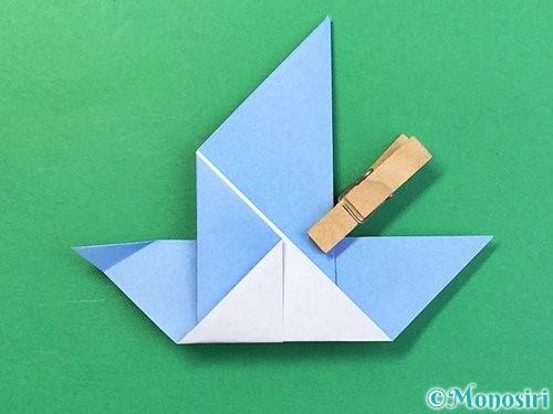折り紙で鳩の折り方手順15