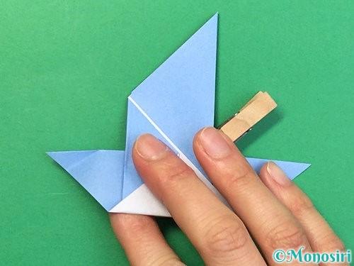 折り紙で鳩の折り方手順16