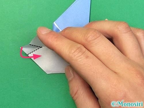 折り紙で鳩の折り方手順17