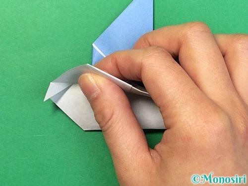 折り紙で鳩の折り方手順18