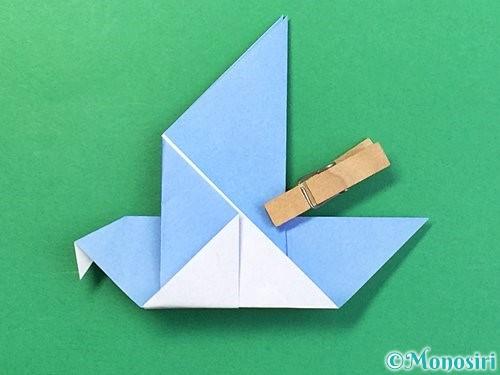 折り紙で鳩の折り方手順19
