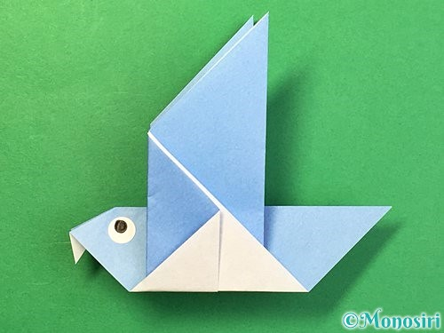 折り紙で鳩の折り方手順20