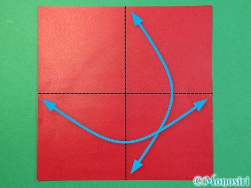 折り紙で❜の折り方手順1