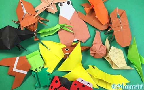 折り紙で折った昆虫