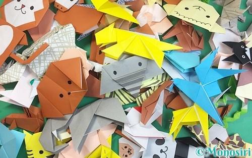 折り紙で折った動物